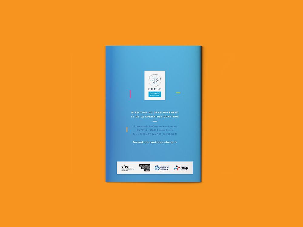 graphisme brochure de formation