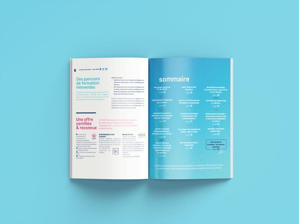Graphisme d'une brochure de formation à Rennes